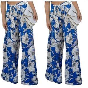 High Waist Floral Pants